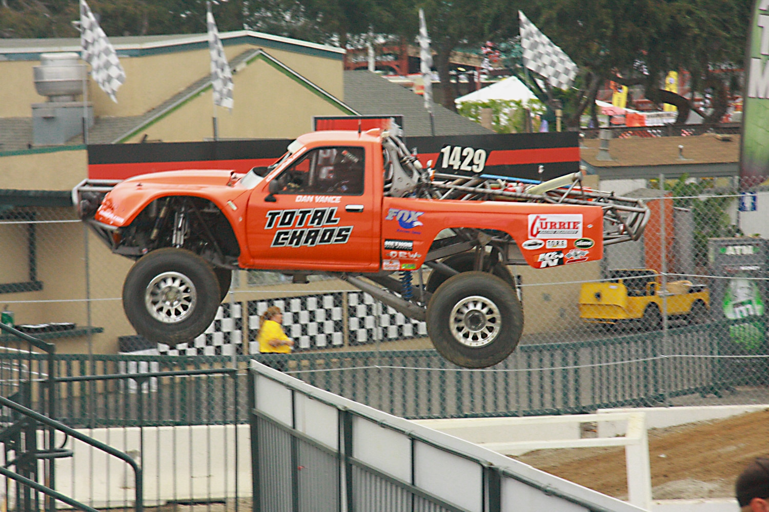 Off Road Race Truck   19  Dan Vance Total Chaos Toyota pickup side
