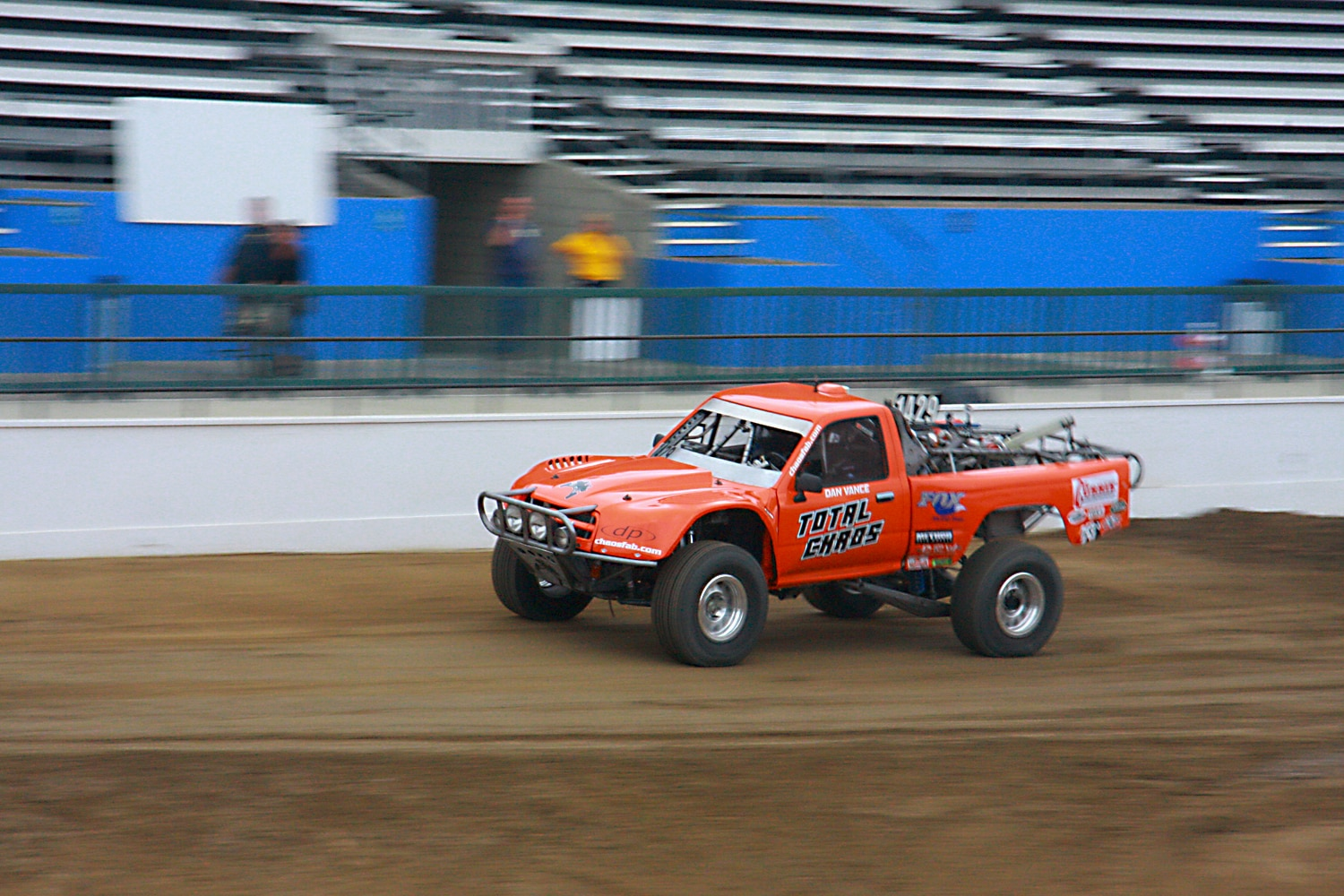 Off Road Race Truck   22  Dan Vance Total Chaos Toyota pickup front three quarter