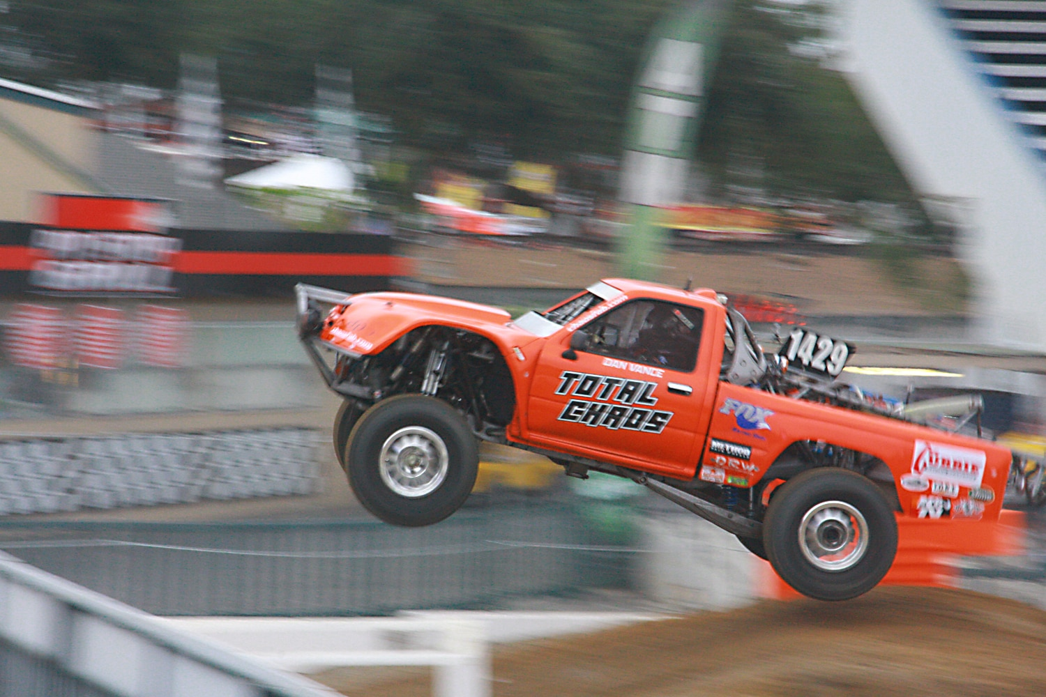 Off Road Race Truck   23 Dan Vance Total Chaos Toyota pickup stadium jump