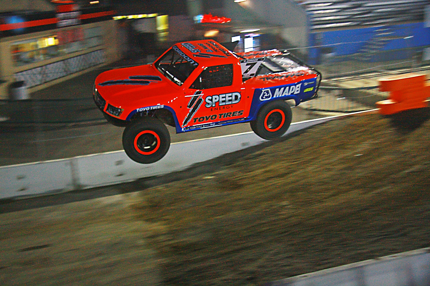 Off Road Race Truck   57  Robby Gordon SST Truck Jump