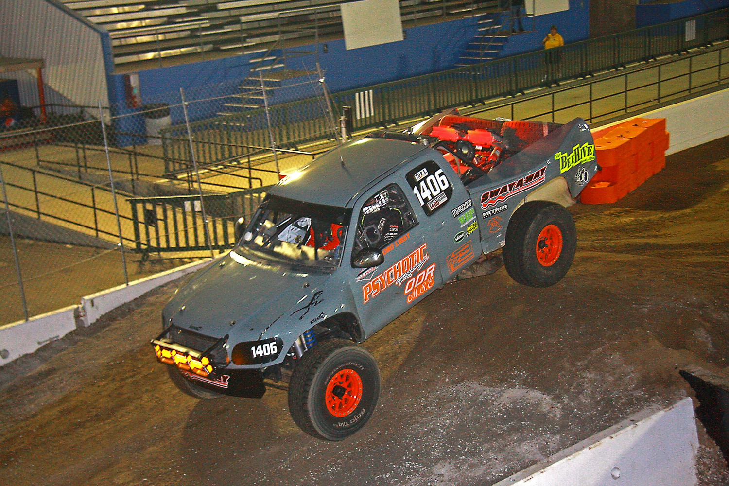 Off Road Race Truck   58  Psychotic Racing Toyota Tundra Landing