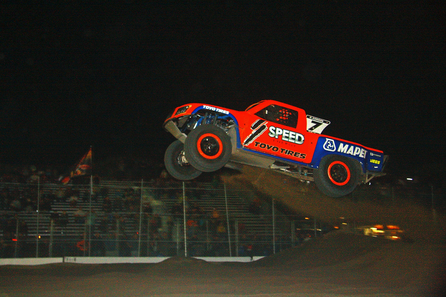Off Road Race Truck   73  Robby Gordon SST Jump Competition