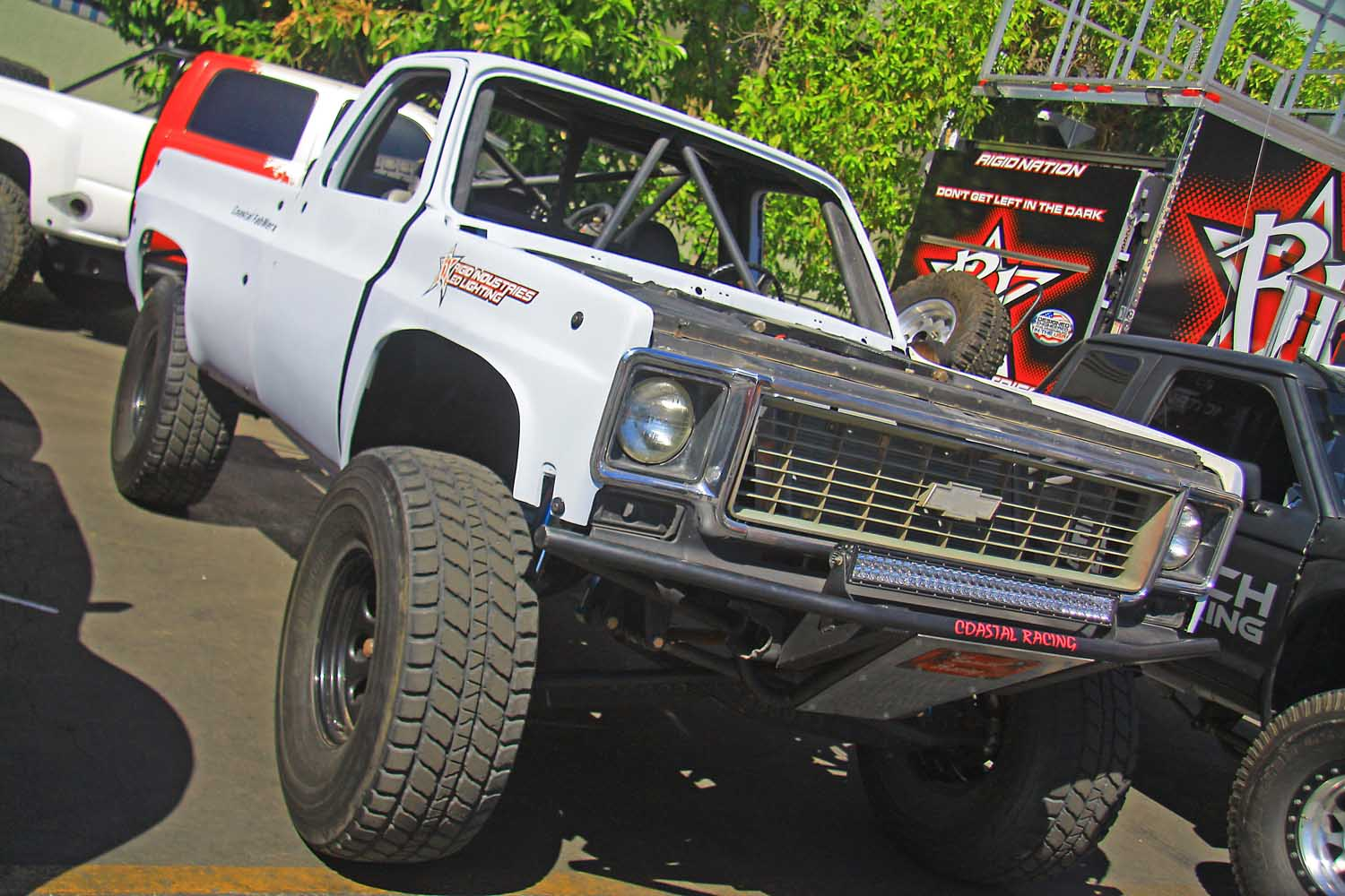 9  Coastal Racing Chevy Silverado I Beam Prerunner front three quarter