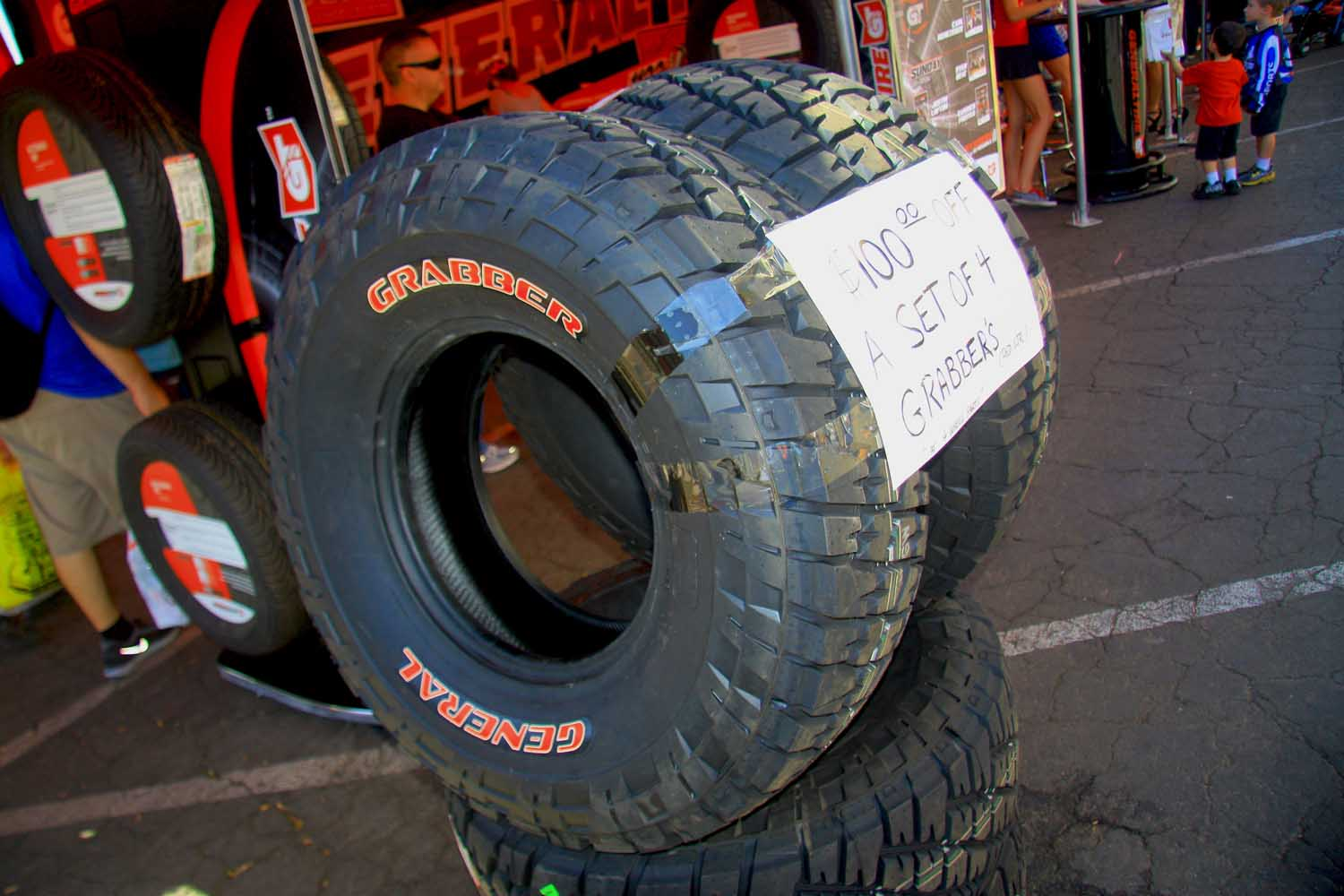 21  General Tire Red Label Grabber Tires