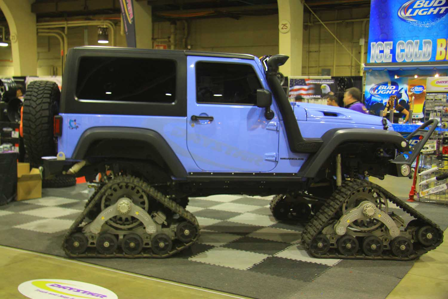 63 Daystar Jeep Wrangler JK with tracks