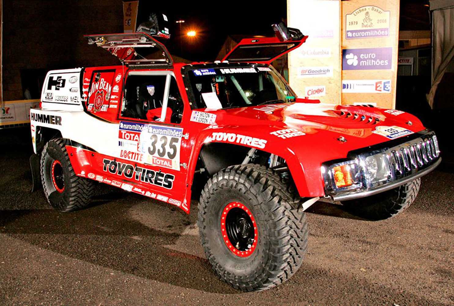 Robby Gordon Motorsports Dakar Rally Hummer H3  1  Front Three Quarter