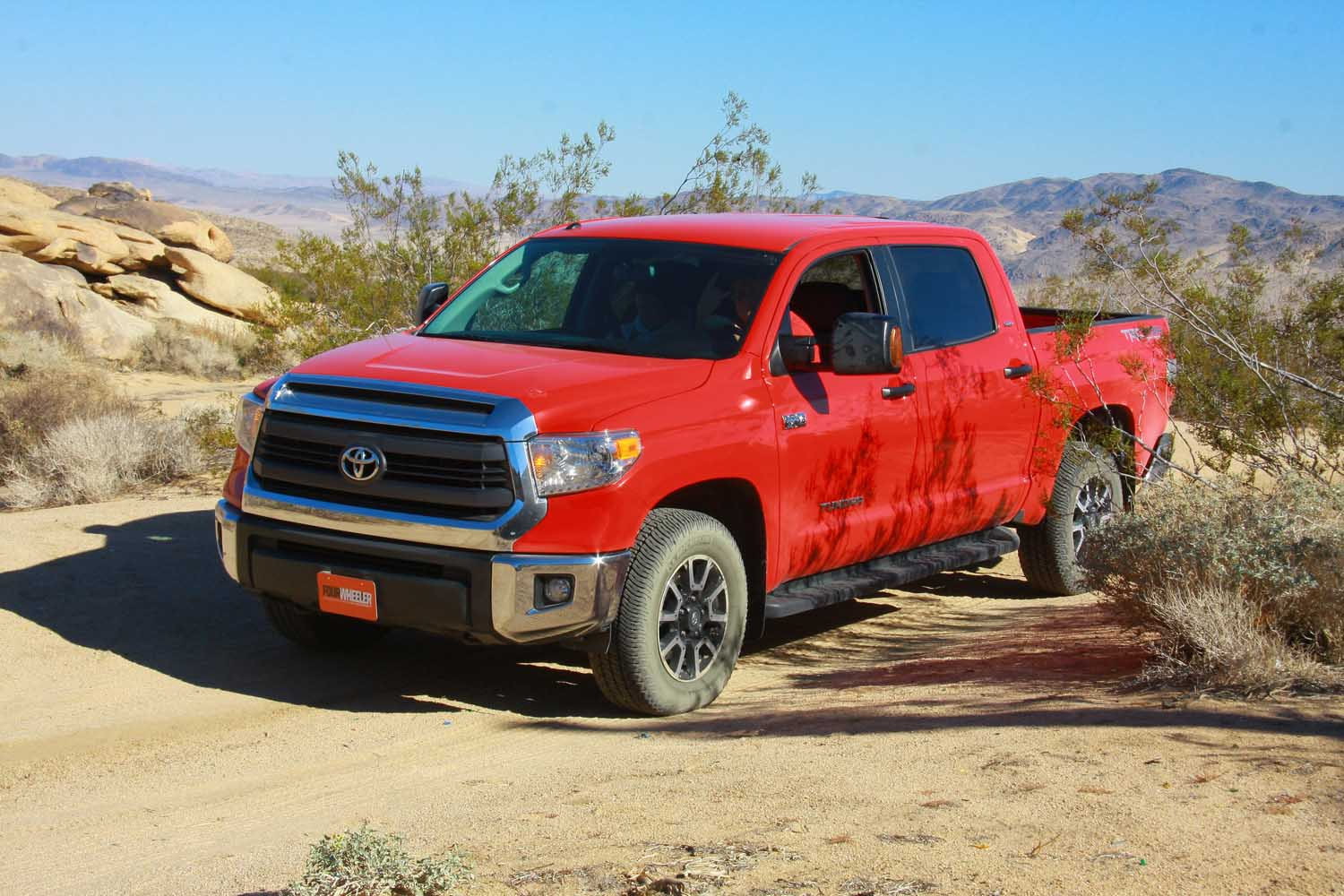 2014 Toyota Tundra front three quarter off road