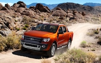 2012 Ford Ranger Wildtrak front on trail