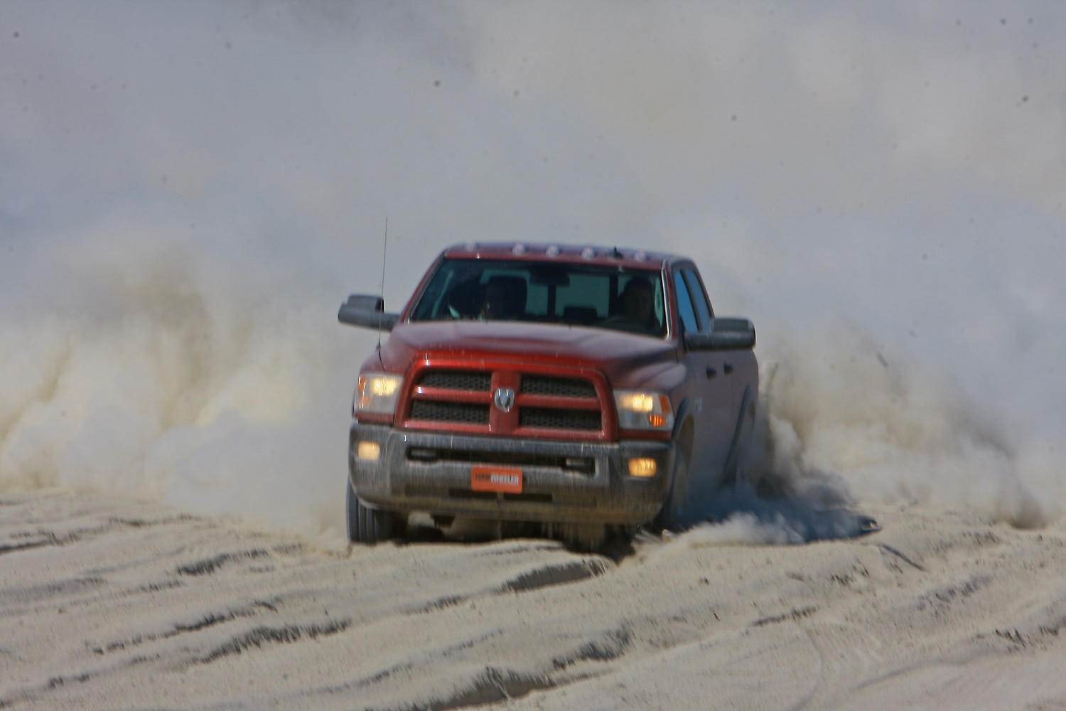 2014 Four Wheeler Of The Year Day 4 Silt Bed   2  2014 Ram 2500 6.4L running through silt bed.JPG