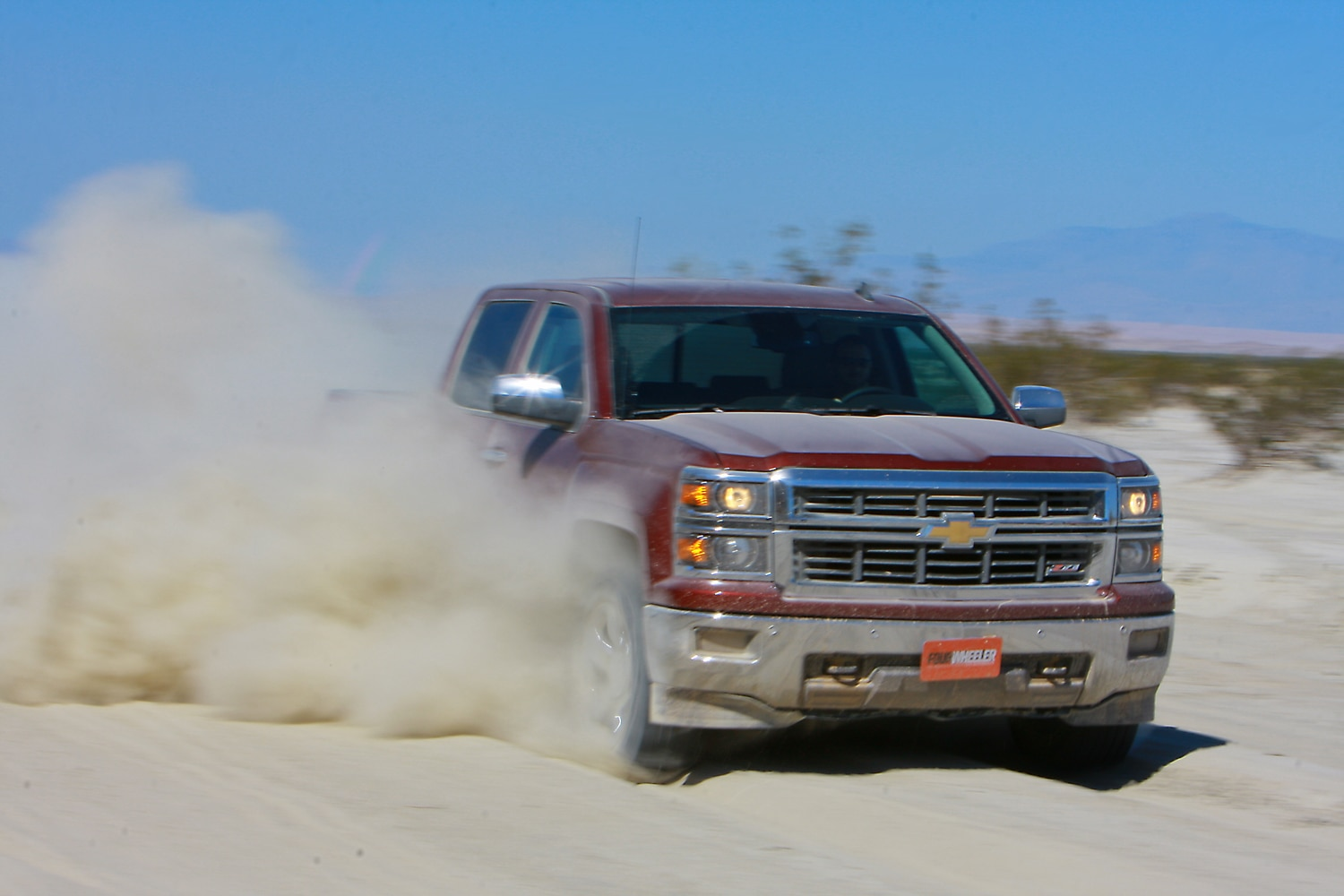 2014 Four Wheeler Of The Year Day 4 Silt Bed   5  2014 Chevy Silverado Z71 powering through silt.JPG