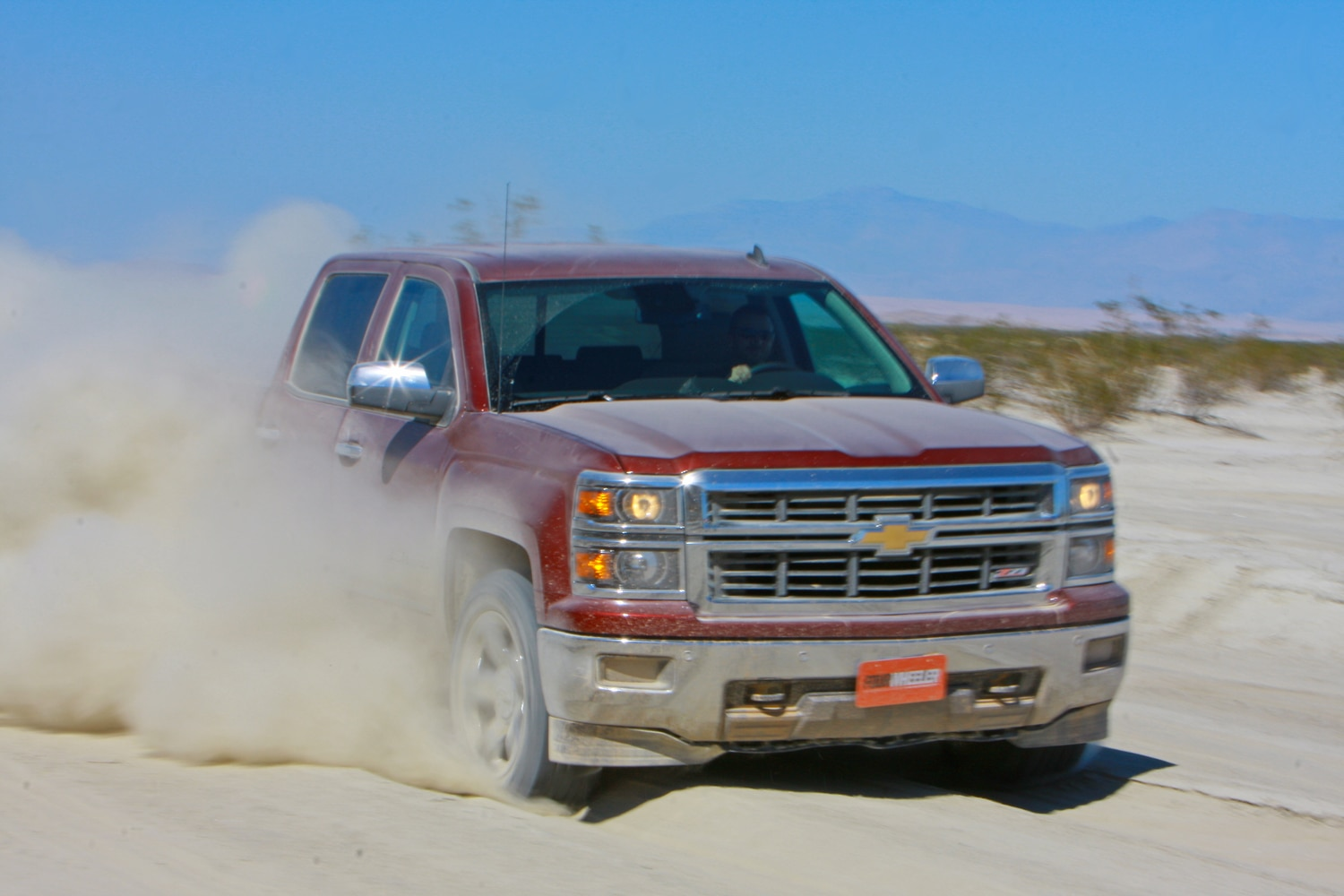 2014 Four Wheeler Of The Year Day 4 Silt Bed   6  2014 Chevy Silverado Z71 exiting silt bed.JPG