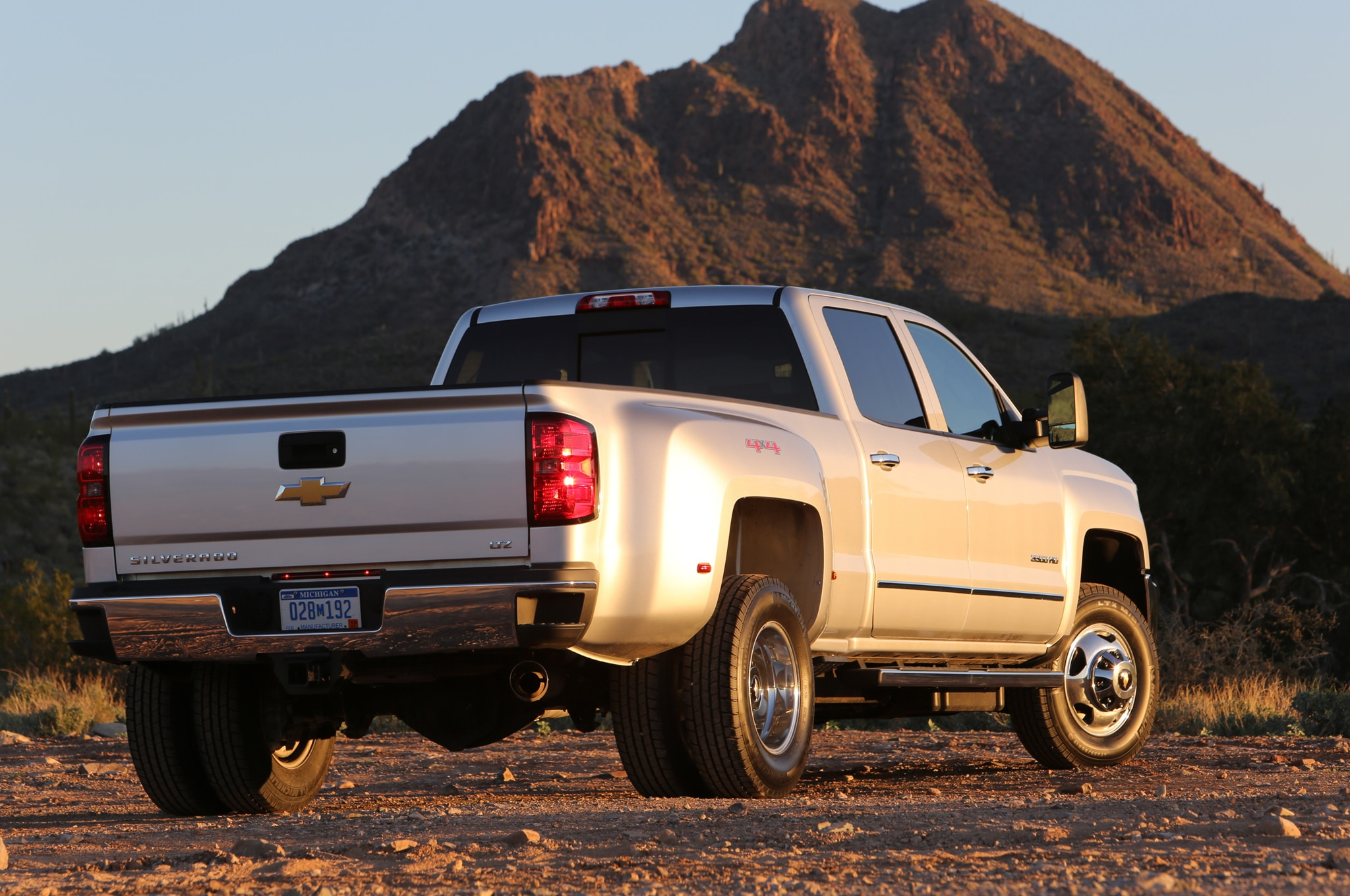 2015 Chevrolet Silverado 3500HD LTZ rear three quarters