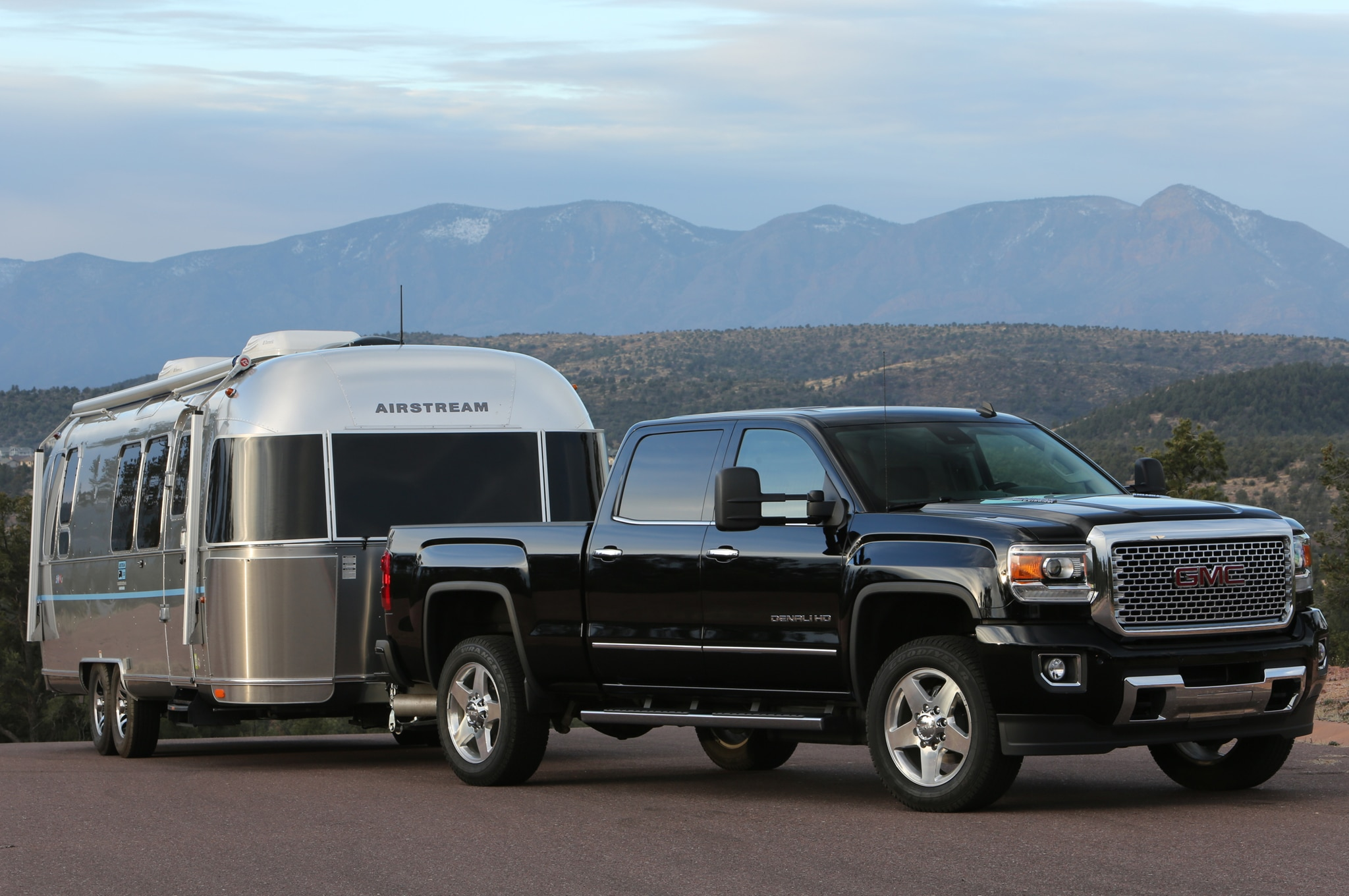 2015 GMC Sierra 2500HD Denali with airstream camper