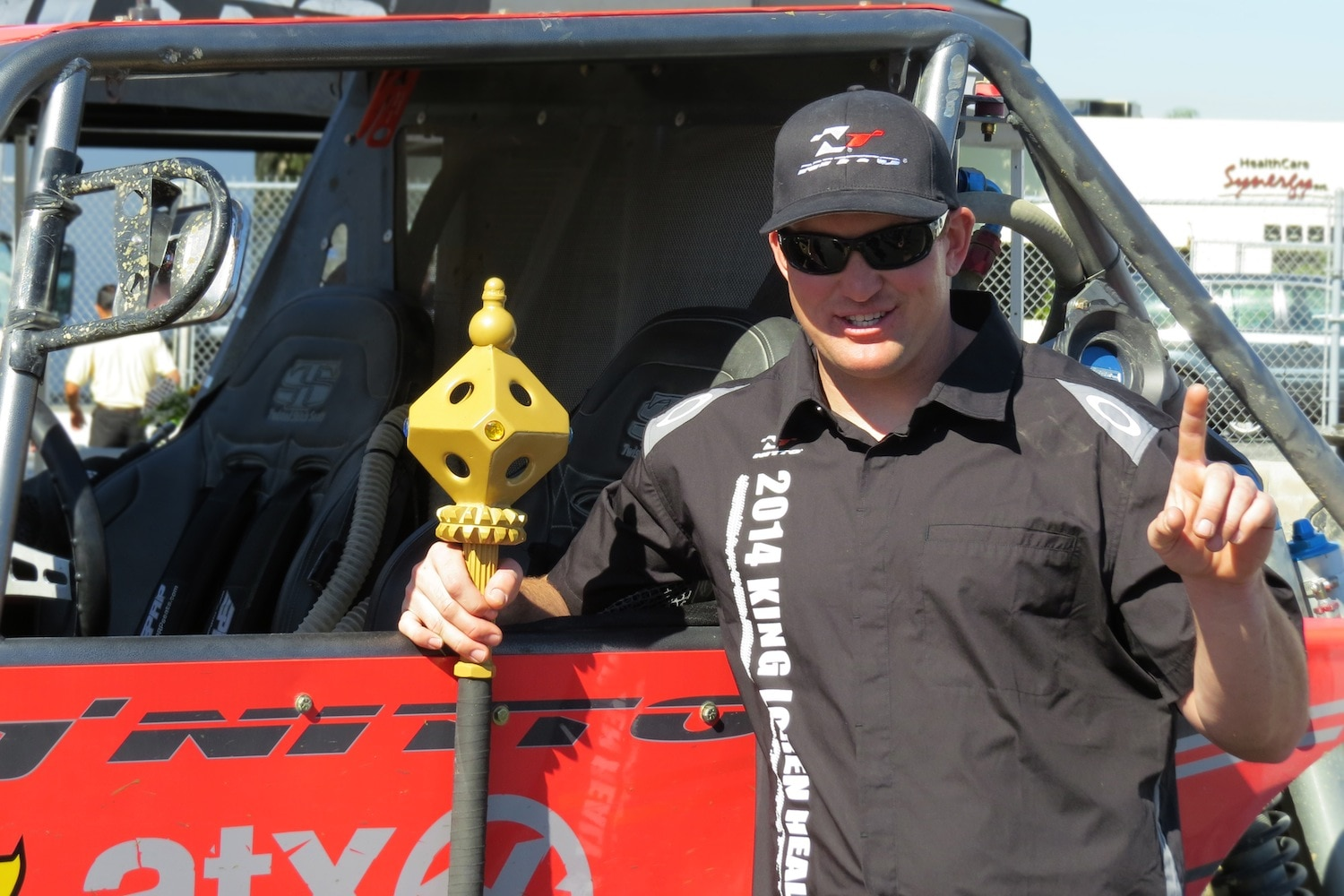 Loren Healy King of The Hammers 2014 Ultra4 Winner Loren Healy with his King of The Hammers Trophy