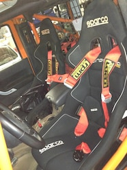 Amy Lerner 2012 Jeep Wrangler JK AEV Race Jeep  3  Sparco seats