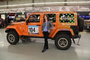 Amy Lerner 2012 Jeep Wrangler JK AEV Race Jeep  13  Amy Lerner standing next to her Jeep Wrangler Rubicon Race Truck