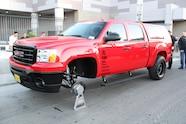 sema 2013 monday fw trucks outside 35