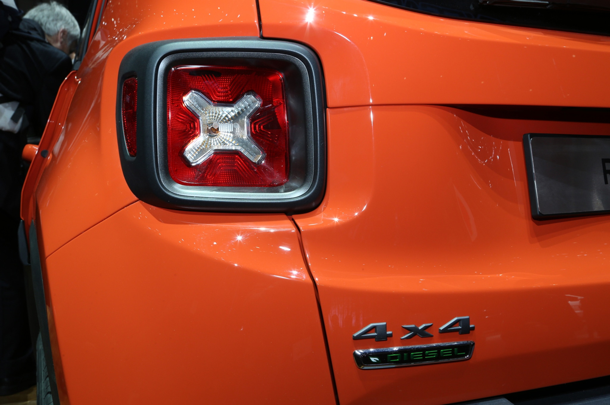 2015 Jeep Renegade Trailhawk show floor taillight and badge