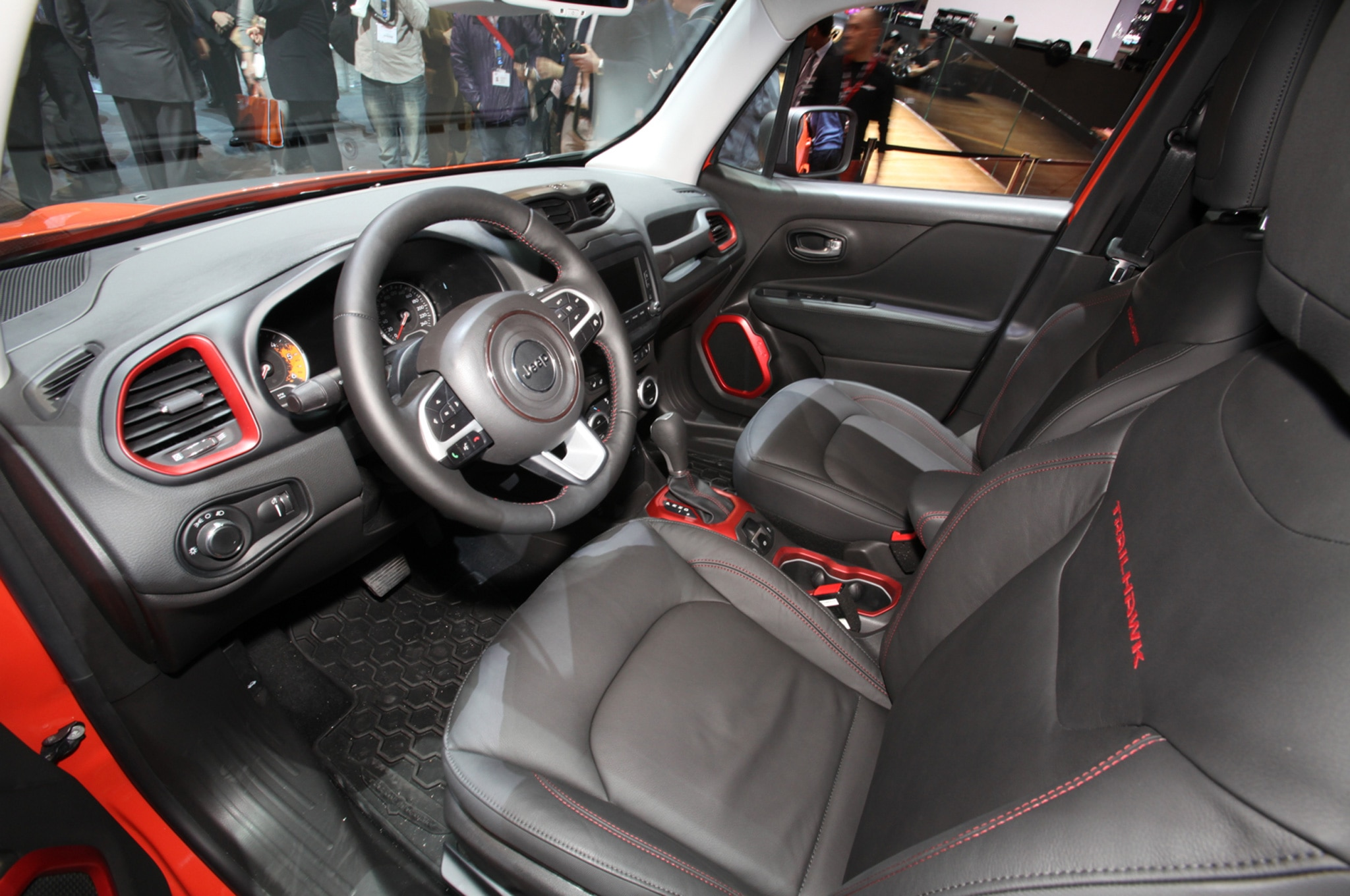 2015 Jeep Renegade Trailhawk show floor interior