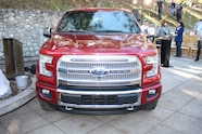 2015 Ford F150 unveiling la river 28 front end