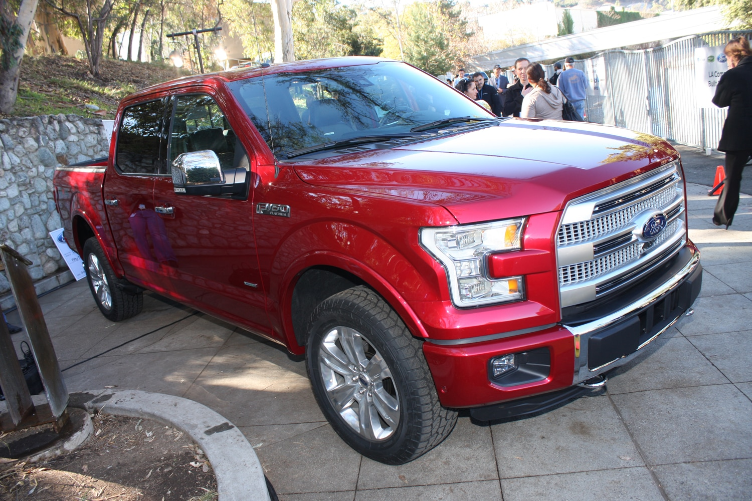2015 Ford F150 unveiling la river 31 front three quarter