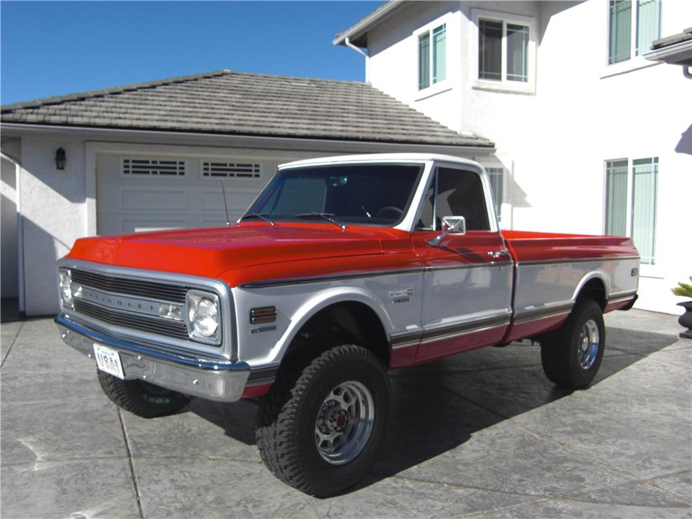 1970 CHEVROLET K 20 CHEYENNE PICKUP lot 398 barrett jackson 2014