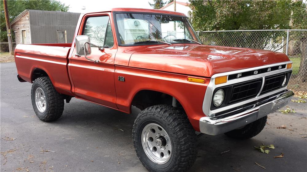 1976 FORD F 150 CUSTOM PICKUP lot 71 barrett jackson