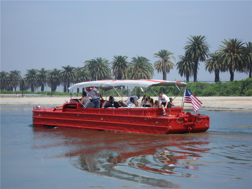 1944 GMC Amphibious Vehicle DUKW in water