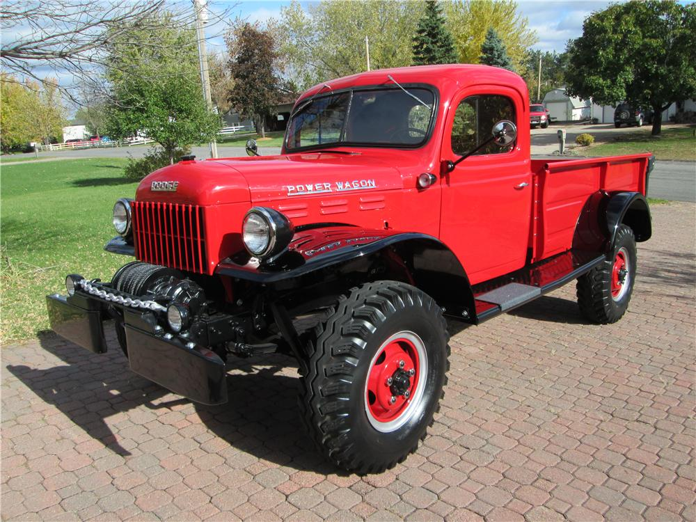 1952 Dodge Power Wagon Pickup front three quarter Lot 1247