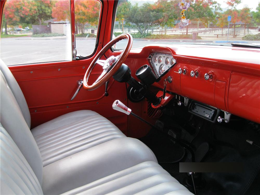 1956 Chevy 3100 4x4 interior