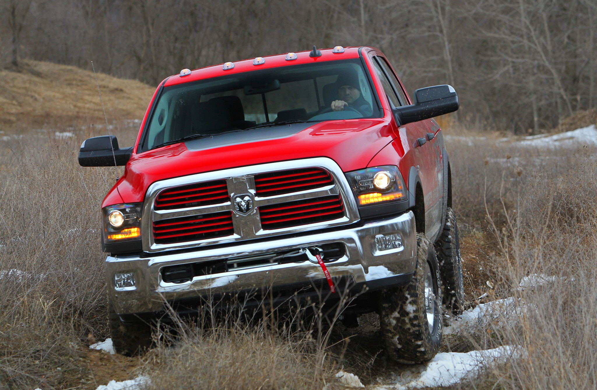 2014 Ram 2500 Power Wagon front end in motion 03
