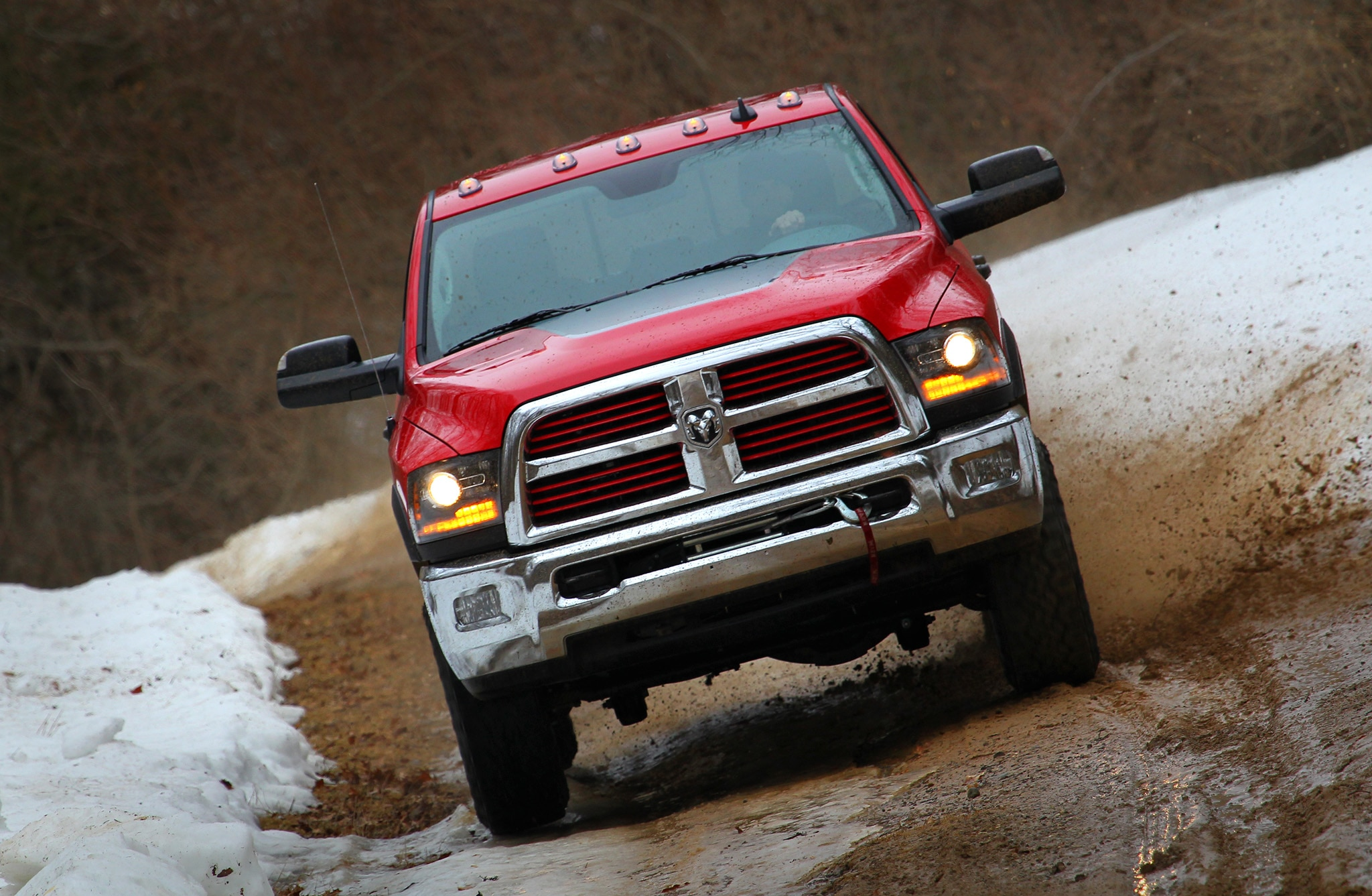 2014 Ram 2500 Power Wagon front end in motion 04