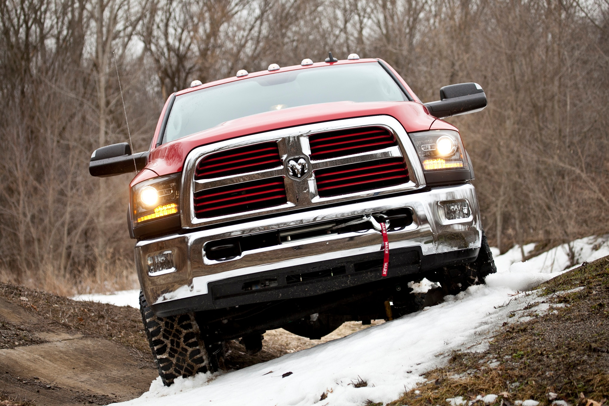 2014 Ram 2500 Power Wagon front end in motion 05