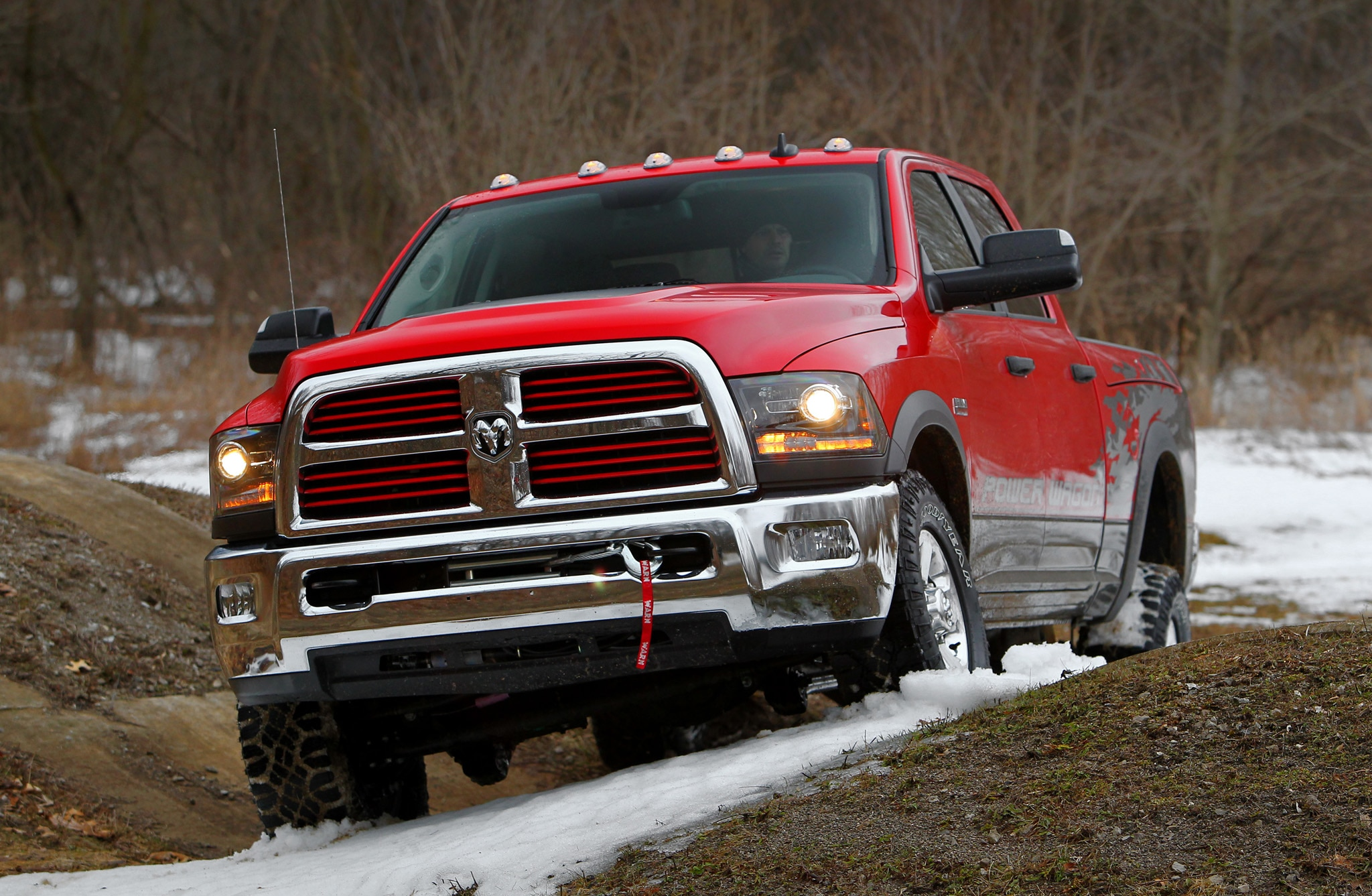 2014 Ram 2500 Power Wagon front end in motion