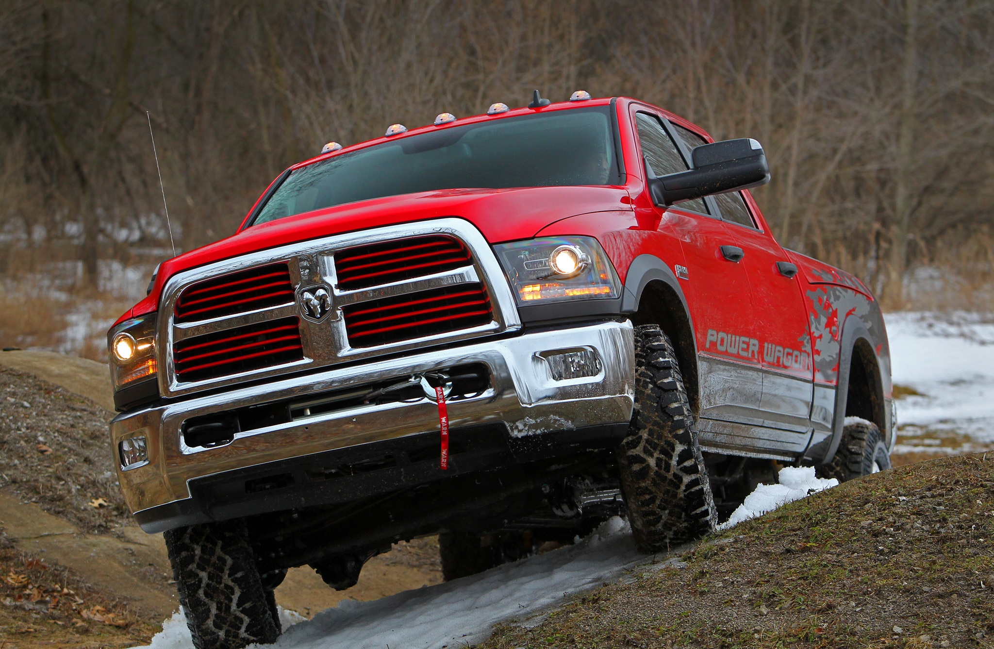 2014 Ram 2500 Power Wagon front end three quarter