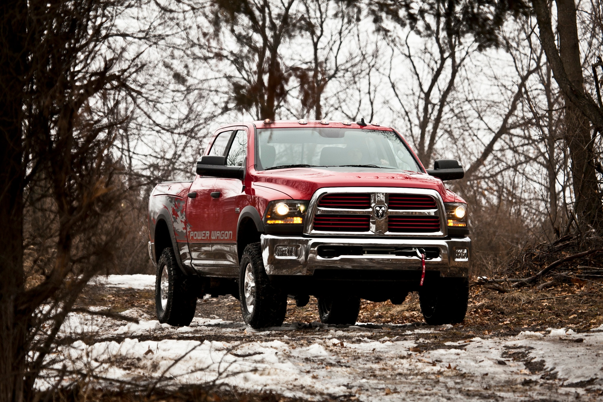 2014 Ram 2500 Power Wagon front three quarter in motion 04