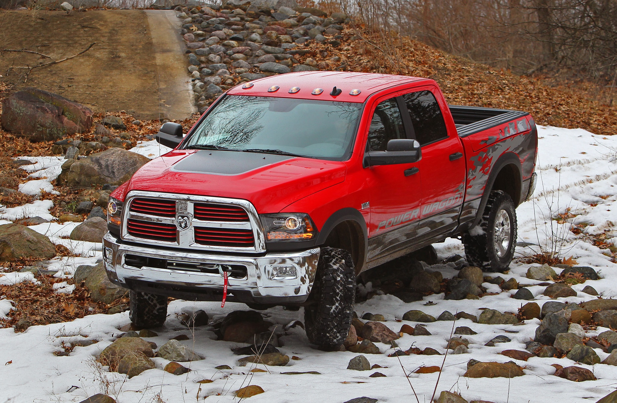 2014 Ram 2500 Power Wagon front top view