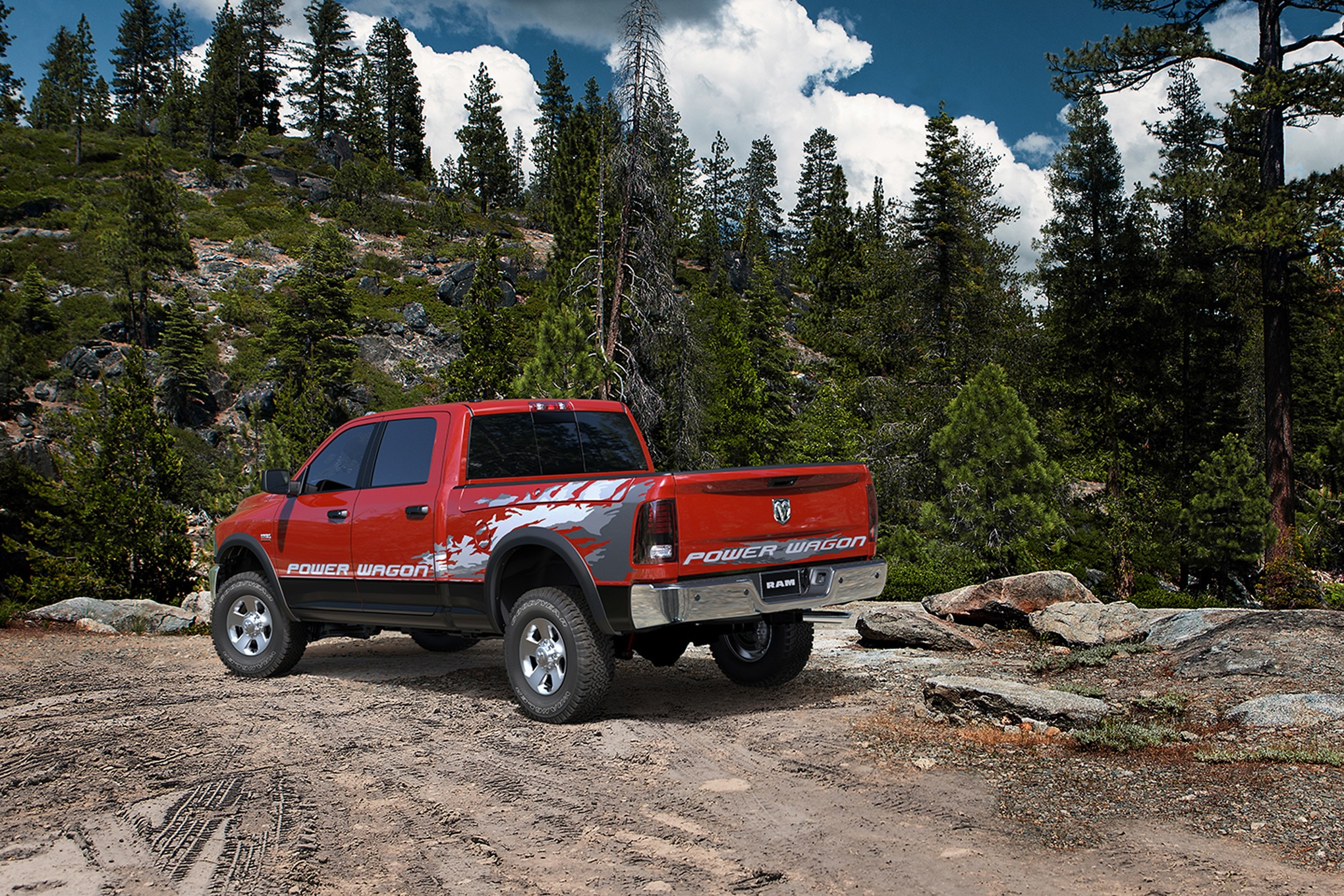 2014 Ram 2500 Power Wagon rear three quarters