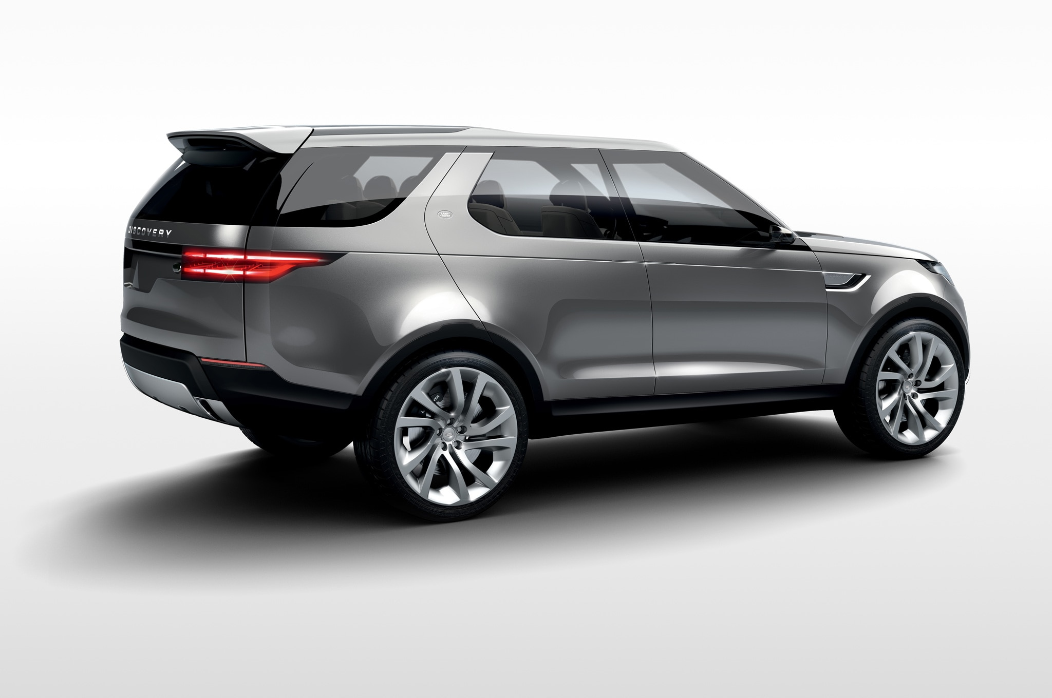 Land Rover Discovery Vision Concept rear side view white background