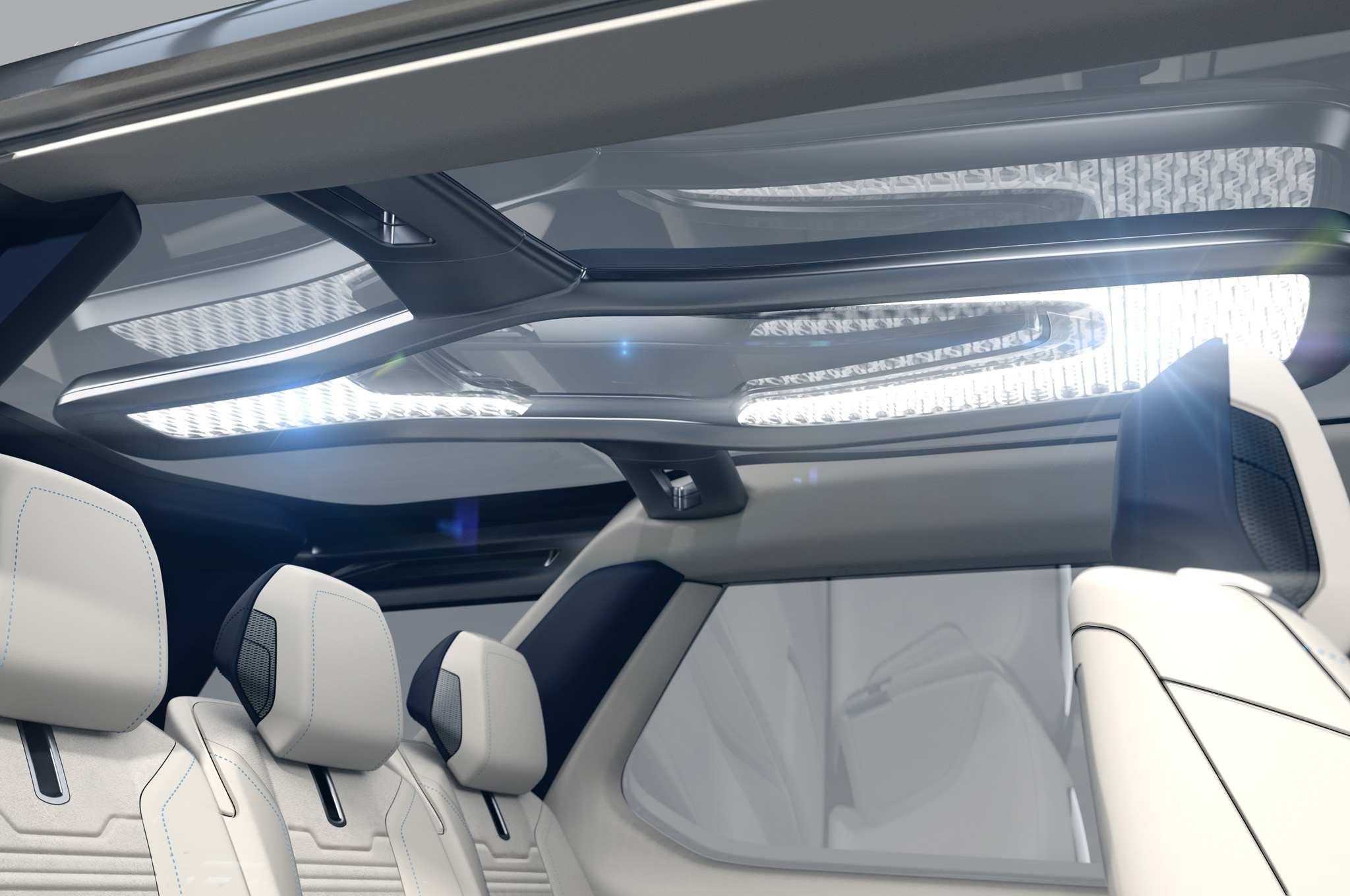 Land Rover Discovery Vision Concept interior LED roof lights