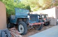 1943 GPW Jeep front three quartes and 1943 CJ 2A