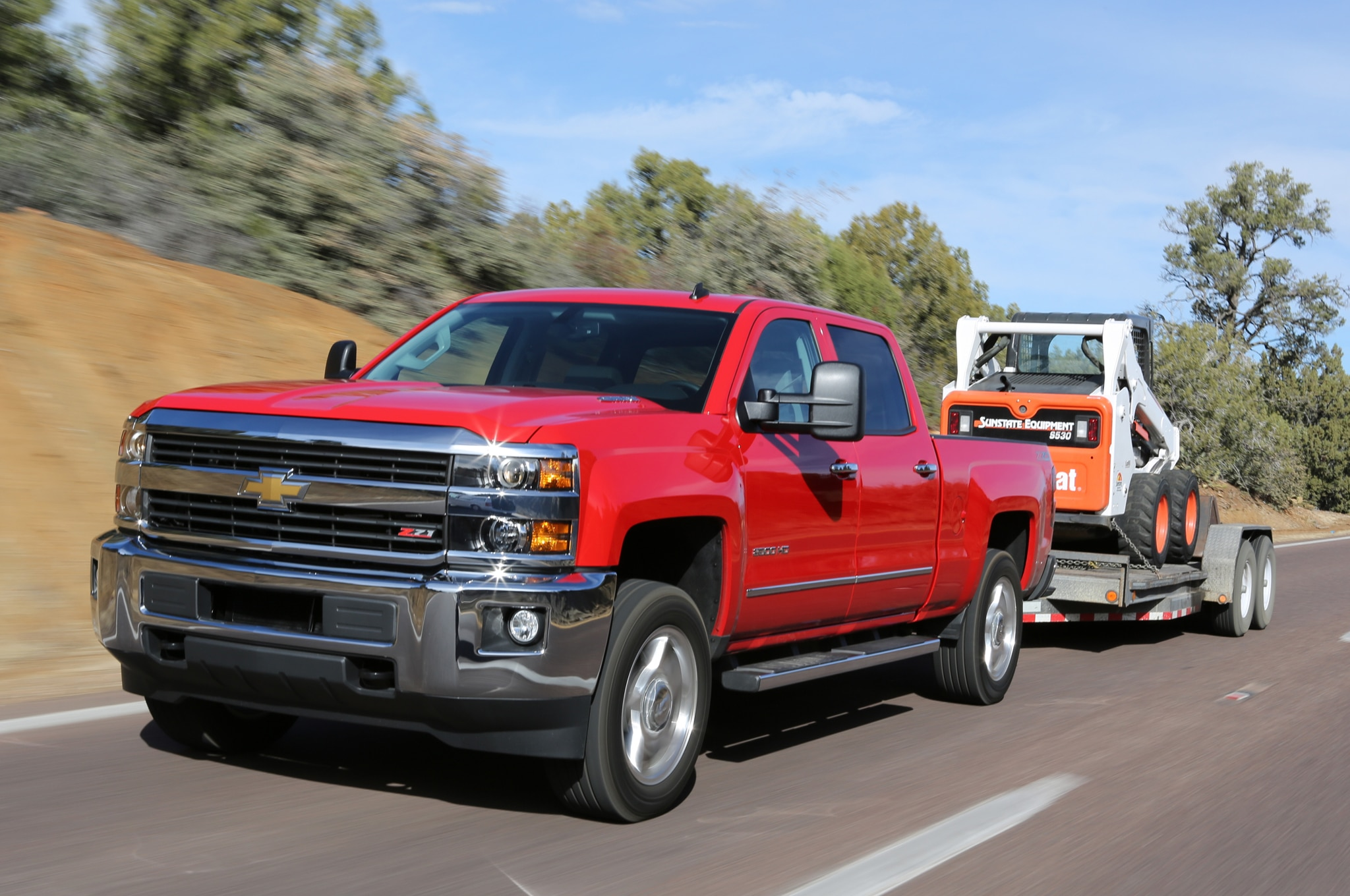 2015 Chevrolet Silverado 2500HD LTZ front view in motion