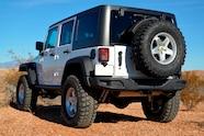 2014 Jeep Rubicon X rear three quarter