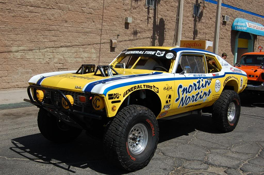 1971 Chevy Nova Rick Johnson Snortin Nortin NORRA 1000 Race Car