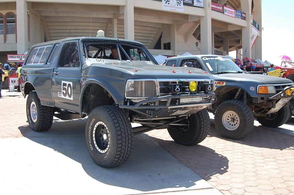 1992 Ford Bronco Vintage Open Truck Class Bill Varnes Tom Weber NORRA 1000 Race Truck