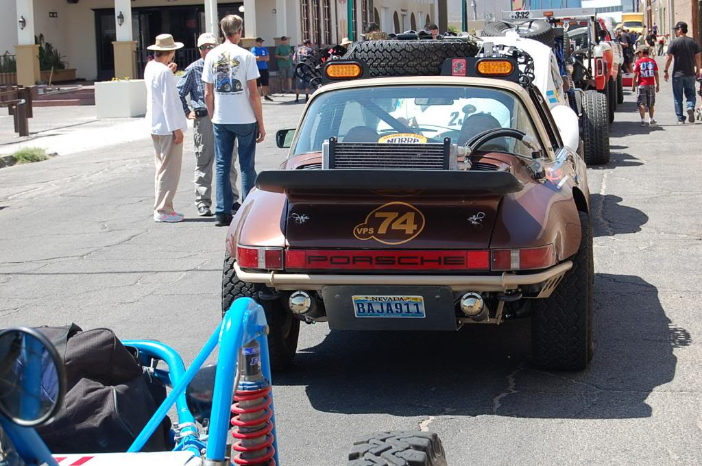 Early Porsche 911 NORRA 1000 Race Car rear