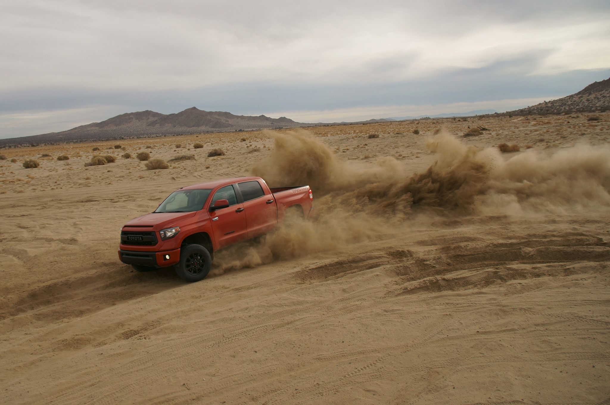 2015 Toyota Tundra TRD Pro sliding in dirt
