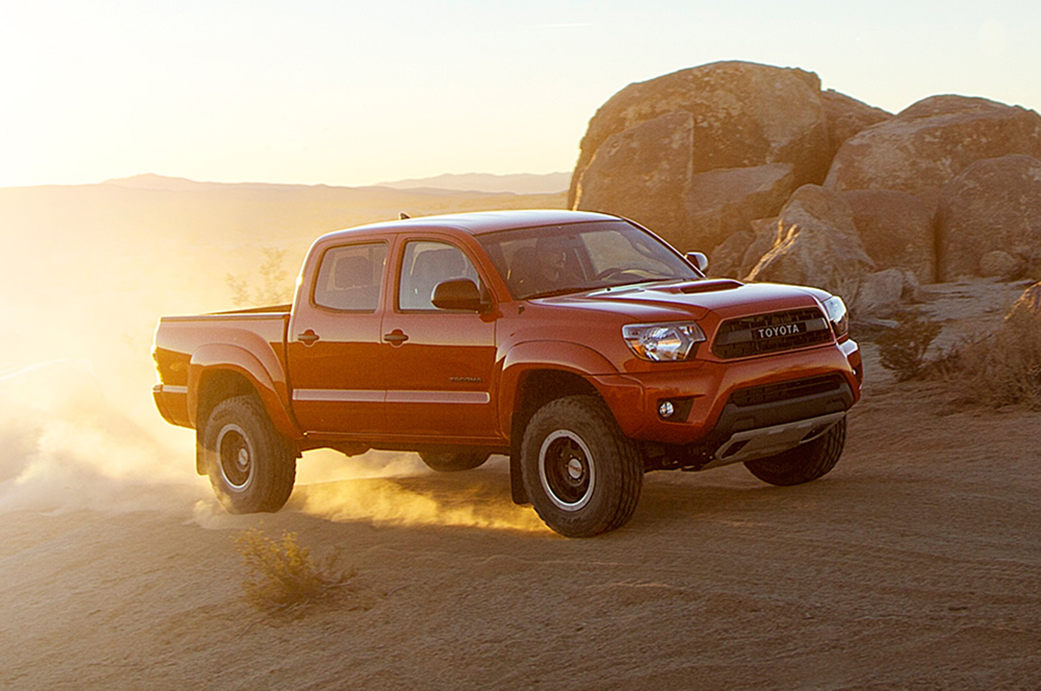 2015 Toyota Tacoma TRD Pro posing with rocks