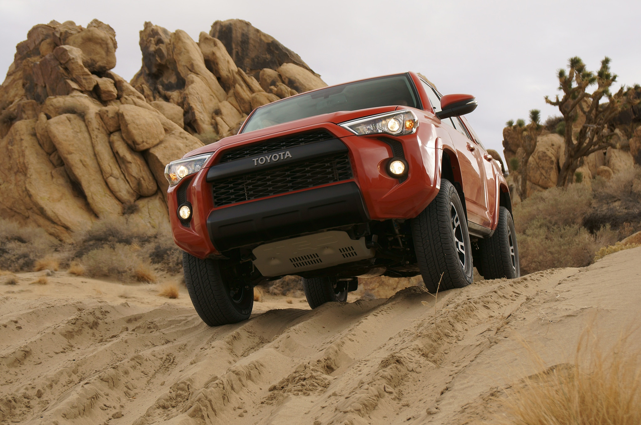 2015 Toyota 4Runner TRD Pro front view on trail