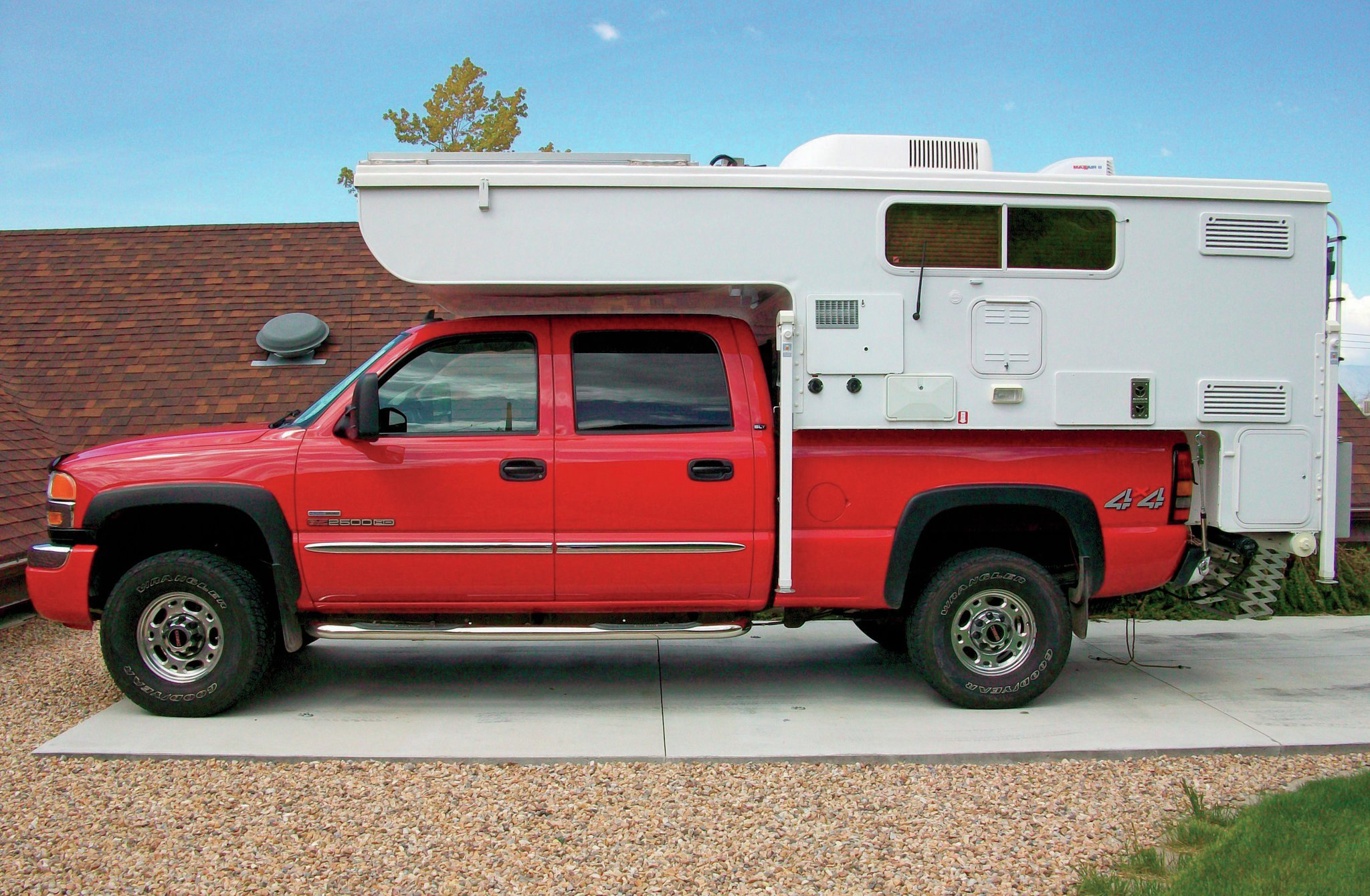 gmc truck with camper